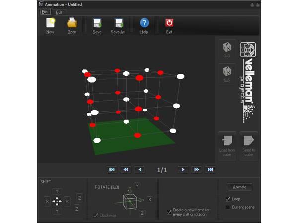 Velleman MK193,  3D LED kube byggesett 3x3x3, elektronik-kit
